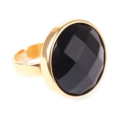 Bague Nature Bijoux Black Light onyx