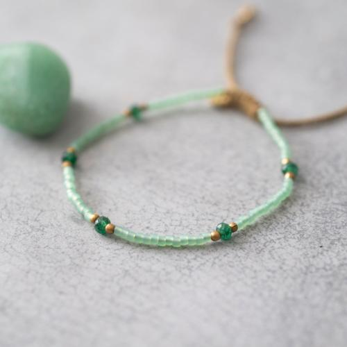 Bracelet a Beautiful Story Friendly doré Pierres Aventurine