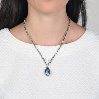 Collier Konplott Captured Blue crystal Small