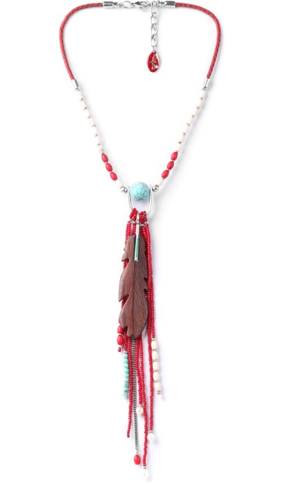 Collier Nature Bijoux Indiana Long pompon