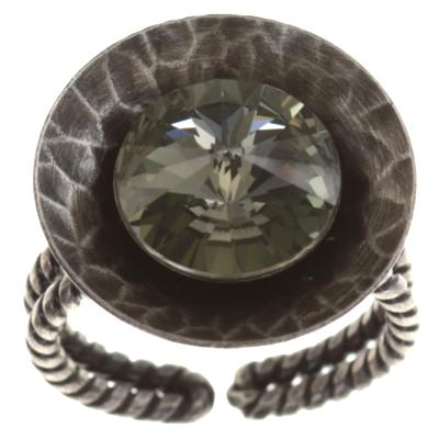 Bague Konplott Rivoli Concave Black diamond M