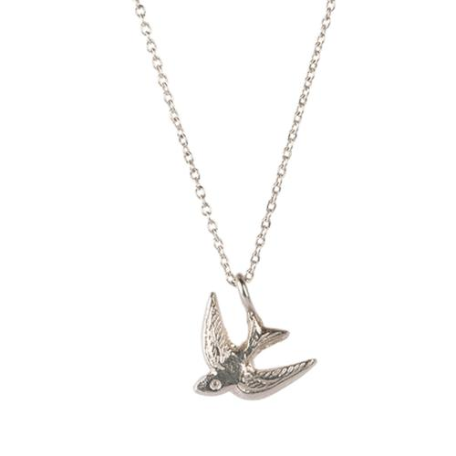 Collier a Beautiful Story Delicate argent pendentif hirondelle