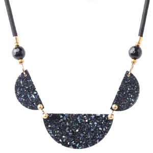 Collier Nature Bijoux Black Light 3 éléments