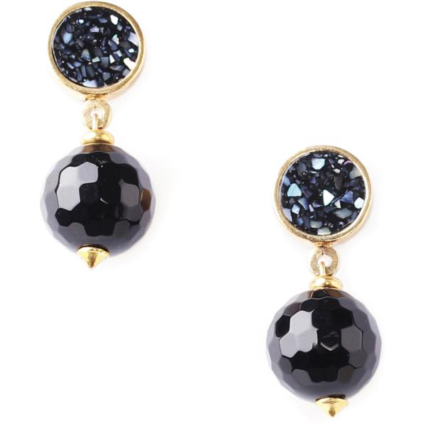 Boucles d'oreilles Nature Bijoux Black Light Perle ronde