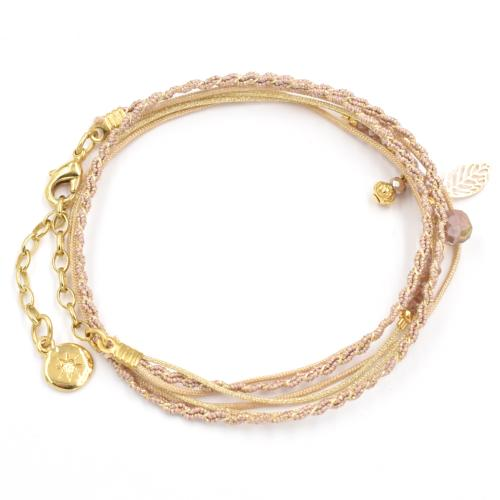 Bracelet By Garance Pretty doré rose clair