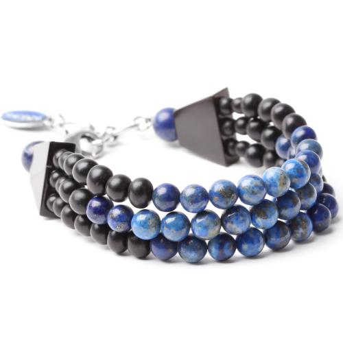 Bracelet Nature Bijoux Deep blue 3 rangs