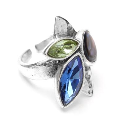 Bague Franck Herval Abby tricolore