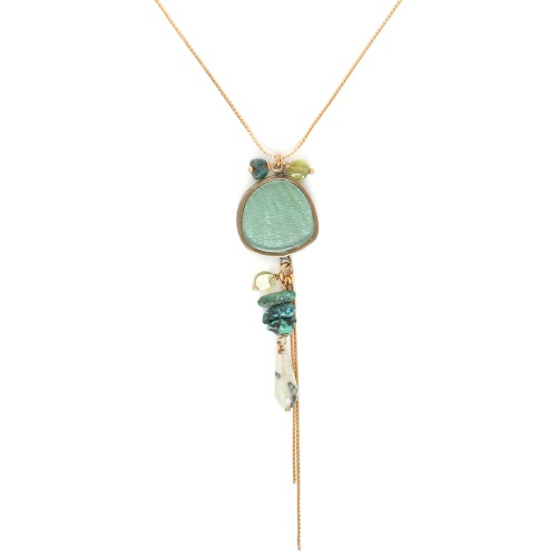 Collier Nature Bijoux Eucalyptus simple