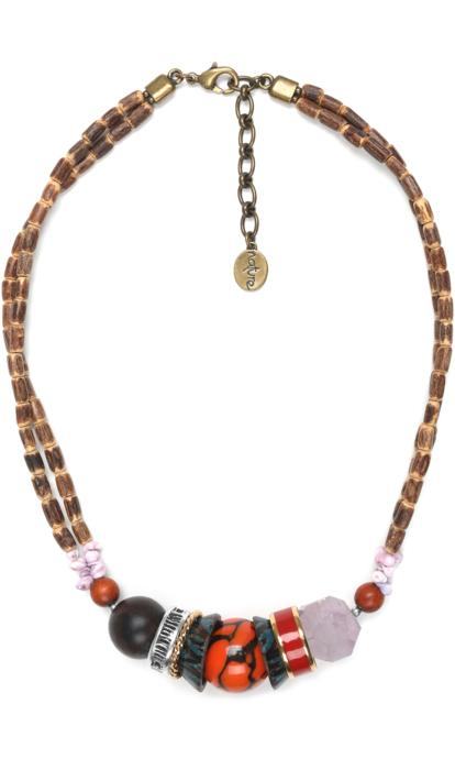 Collier Nature Bijoux Melting Pot finition 2 rangs