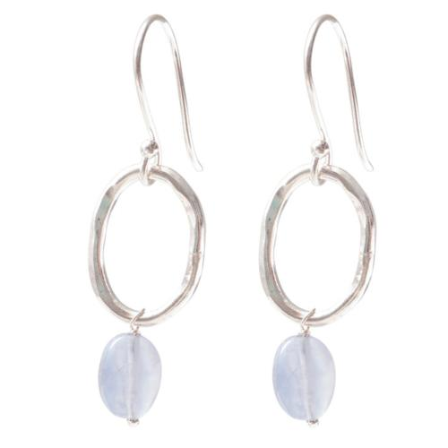 Boucles d'oreilles a Beautiful Story Graceful Pierres Agate bleue
