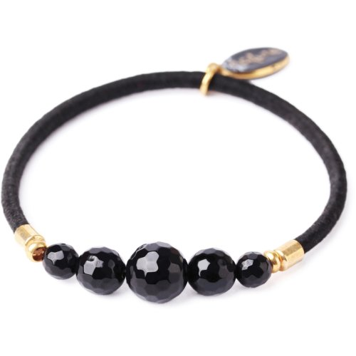 Bracelet Nature Bijoux Black Light 5 perles