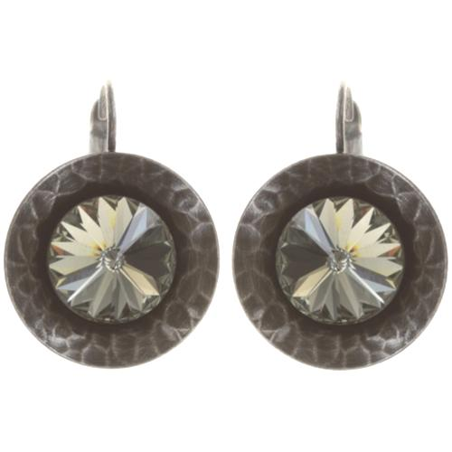 Boucles d'oreilles Konplott Rivoli Concave Black diamond 1 médaillon medium