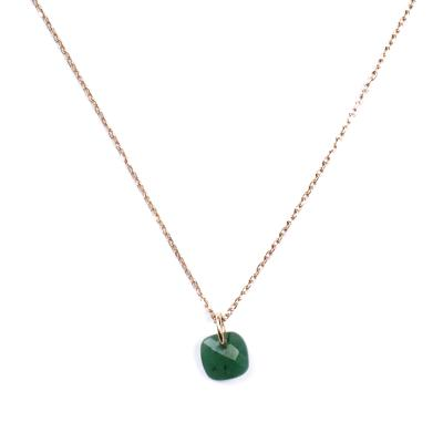 Collier Senzou New Brio Or et Quartz vert