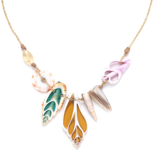 Collier Nature Bijoux Lagoon multi coquillages