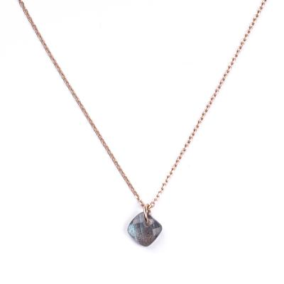 Collier Senzou New Brio Or rose et Labradorite