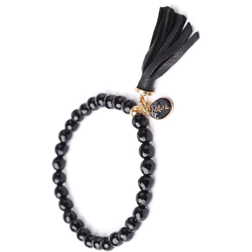 Bracelet Nature Bijoux Black Light Pompon