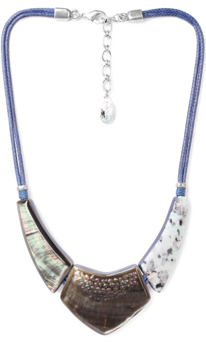 Collier Nature Bijoux Lotus plastron