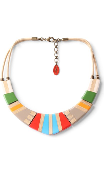 Collier Nature Bijoux Bamboo Stripes plastron