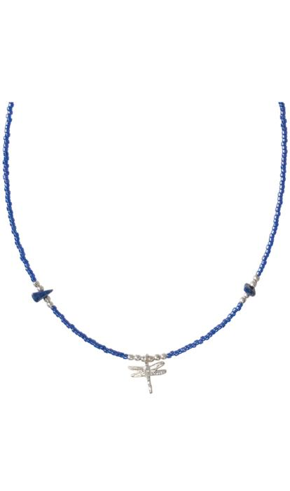Collier a Beautiful Story Wildflower argenté Pierre Lapis-Lazuli