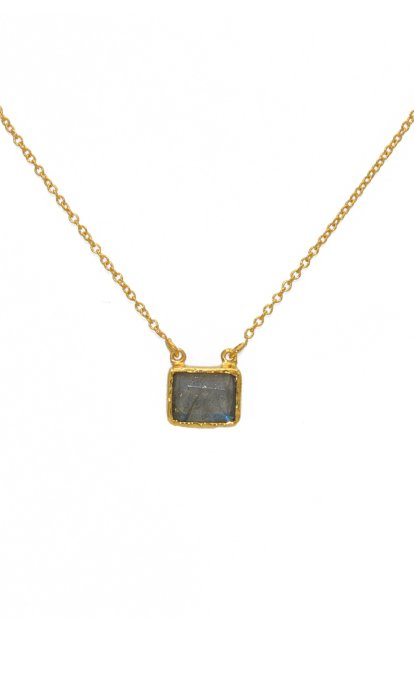 Collier LuckyTeam Labradorite rectangulaire