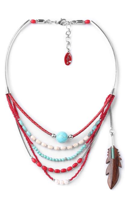 Collier Nature Bijoux Indiana 5 rangs