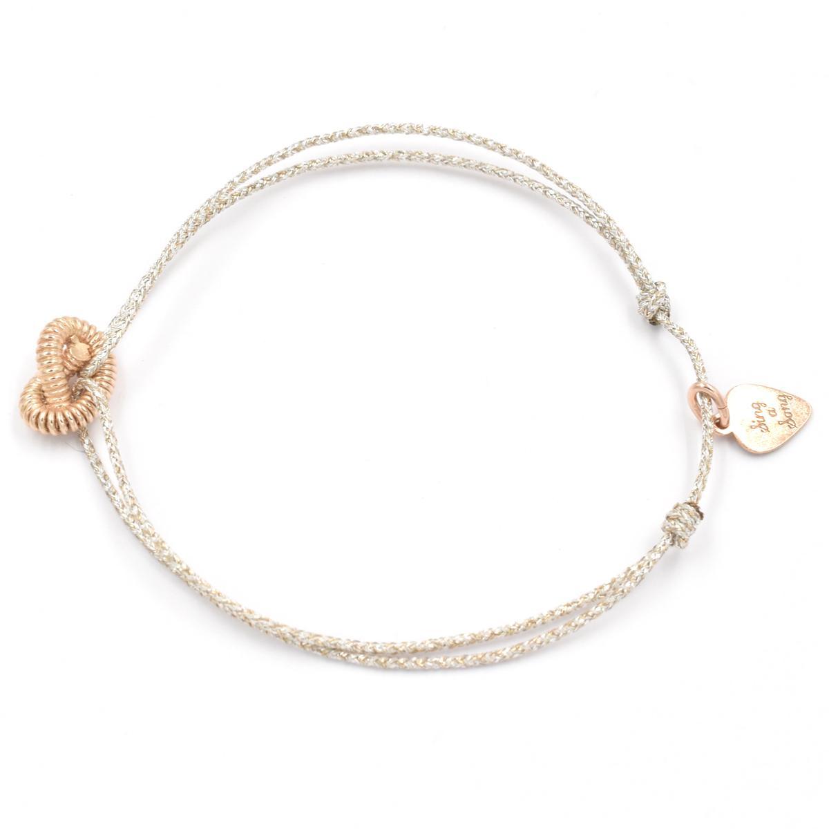 bracelet femme argent corde