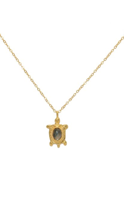 Collier LuckyTeam Tortue et Labradorite