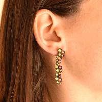 Boucles d'oreilles Konplott Inside Out Green-Lilas