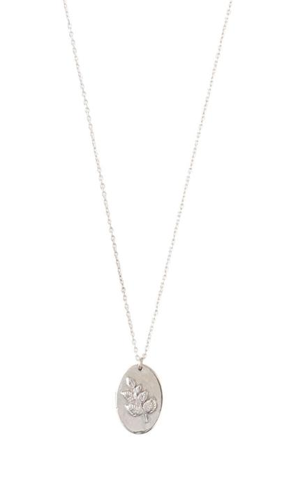 Collier a Beautiful Story Wonderful argent pendentif médaille branche