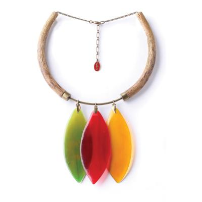Collier Nature Bijoux Land Art 2 trompes