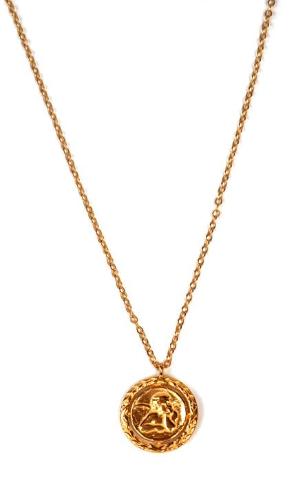 Collier LuckyTeam Médaille Ange